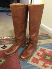 VINTAGE FRYE CAMPUS 6505 WHITE LABEL Womens Brown Leather Riding Boots US 7B