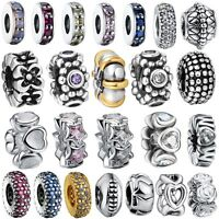 Fashion Spacer Bead Charm Fine For European Bracelet 925 Silver Sterling Jewelry