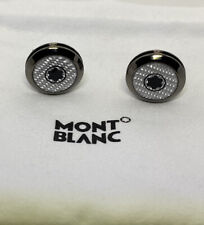 Grey colour mont blanc cufflinks