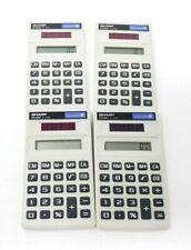 Lot of 4 SHARP ELSIMATE EL - 240D Hand Held / Pocket Size Calculators