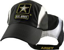 Army Nylon Performance Cap- Black & White