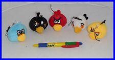 Personaggi Gioco ANGRY BIRDS Set 5 Mini PELUCHE con LACCETTO 4cm ORIGINAL Rovio