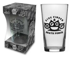 Five Finger Death Punch boxed beer glass New