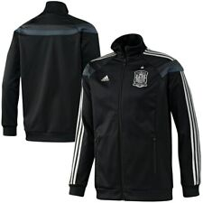 SPAIN Adidas track top anthem jacket World Cup 2014 España black silver XL