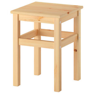 IKEA ODDVAR Hocker Holzhocker Schemel Holzschemel 33x33x45cm Massive Kiefer NEU