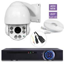 "8CH NVR 4MP NVR 30X OPTICAL ZOOM 4"" Size 4MP IP PTZ Dome Camera SONY CMOS ONVIF"