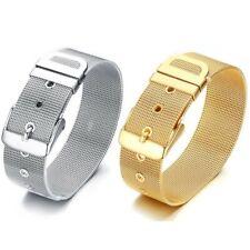 BR0181 Bracelet Ceinture Souple Femme Acier Inoxydable Argenté ou Doré à l'Or Fi