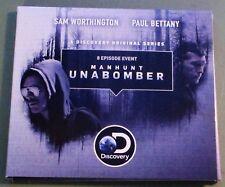 MANHUNT: UNABOMBER~2018 FYC DVD SET~8 PART SERIES~SAM WORTHINGTON,PAUL BETTANY