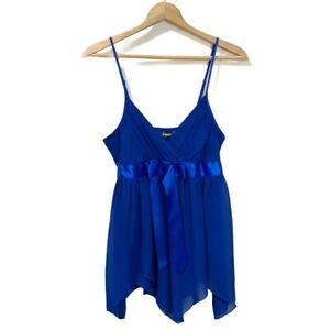 Frederick's of Hollywood Women's Size XL Blue Lingerie Babydoll Sexy Night EUC