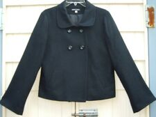 MARCO SELINI Black Wool Blend Jacket /Bow on Back  size 10 Made in USA!