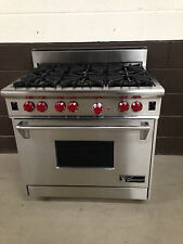 "Wolf 36"" Professional Gas Range Oven 6 Burner Stainless Steel"