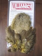 Fly Tying Brahma Hen Soft Hackle w/Chickabou Mottled Gray dyed Golden Straw #B