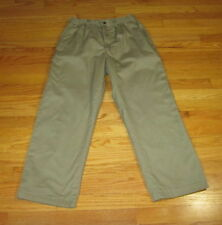 MENS Haband Ice House Beige Flannel Lined Khaki Pants Size 32 x 27