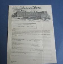 Old 1923 - Babson Bros. - Chicago - Account Request Document - Factory Vignette