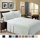Sheet Set 4pc - Microfiber 100% - LuxClub 1500 Supreme Collection Triple Stitch