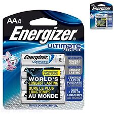 Energizer Ultimate Lithium AA Batteries, World's Longest-Lasting AA Battery, 4
