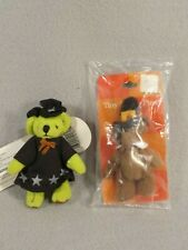 Russ Berrie Miniature Bears Halloween Wizard Thanksgiving Pilgrim Pin Hang Tags