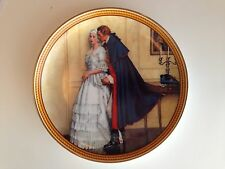 "Norman Rockwell ""The Unexpected Proposal"" Vintage Plate Edwin M. Knowles China"