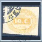 1863 Italia Regno Segnatasse cent. 10 giallo n. 1 Usato