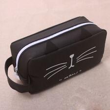 Silicone Cat Makeup Cosmetic Case Pen Pencil Bag Zipper Coin Pouch Purse Gift