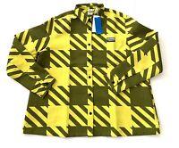 Adidas Yellow Plaid Button Outdoor Snowboard Ski Long Sleeve Shirt Women's XL