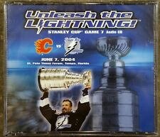 UNLEASH THE LIGHTNING STANLEY CUP GAME 7 AUDIO CD TAMPA BAY CALGARY FLAMES NHL!