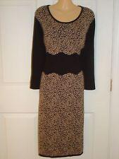 Jones New York Wear to Work Floral Print Knee Lelngth Sweater Dress Sz L