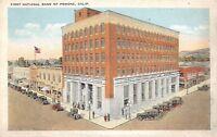 D85/ Pamona California Ca Postcard c1910 First National Bank Building