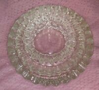 Fenton Clear Hobnail Set 3 Ashtrays Stackable Candy Dish Valet Caddy Tray Glass