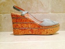 Wedge Party Patternless 100% Leather Heels for Women
