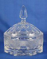 "Clear Crystal Candy Dish w/ Lid 7""H 3.9 lbs Heavy Piece Lovely Gift Idea"