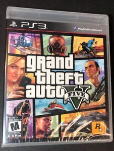 Grand Theft Auto V GTA 5 [ First Print Black Label ] (PS3) NEW