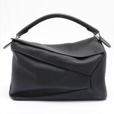 Loewe Puzzle Large Leather 2WAY Handbag Black
