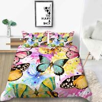 Butterfly Spider 3D Printing Duvet Quilt Doona Covers Pillow Case Bedding Sets