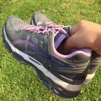 Asics Women's Gel Kayano 22 Athletic Running Walking Gray/Purple Shoes Size 10
