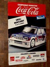 Affiche Ancienne Automobile RENAULT 5 TURBO R5  car poster Années 80 Coca Cola