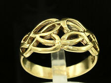 R006- Lovely Genuine SOLID 9ct Yellow Gold Celtic KELTIC KNOT Ring size 9.25 / S