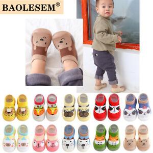 Kids Baby Girls Boys Toddler Anti-slip Slippers Socks Walker Shoes Spring Summer