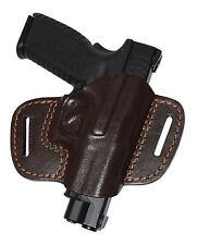 Springfield XD, XDM, XDS waist belt (OWB) gun holster, genuine leather RH 5301br