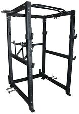 Strength Shop Riot Power Cage (Rack) with band pegs, dip handles and chin bar
