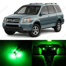 12 x Green LED Lights Interior Package Deal For Honda PILOT 2006 - 2008