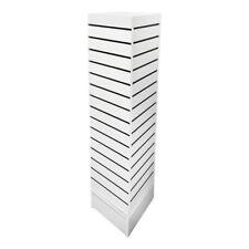 12 X 12 X 54 White Rotating 4 Sided Revolving Slatwall Floor Display