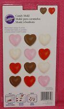 Hearts,Bon Bon Chocolate Candy Mold, Wilton, 2115-1712,Plastic,Clear,Valentines