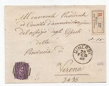 J953-VERONA-UMBERTO 1°-RACC.DA MINERBE 1889