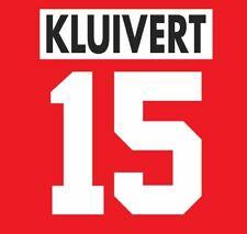 Kluivert #15 Ajax 1995-1996 Home Football Nameset for shirt