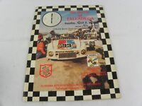 1978 Six Hours at Talladega Racing Program IMSA Results of Races, Photos