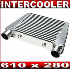 """INTERCOOLER V-MOUNT - 610 x 280 - BAR & PLATE - INLET/OUTLET = 63mm 2.5""""inch"""