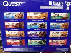 3 Boxes of 12 Quest Ultimate  Protein Bars Variety Pack 12 flavors- 36 bars 3/21