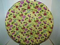 "Baum Brothers Rose Formalities Plates 10 1/2"" Chintz Charlotte yellow Set of 4"