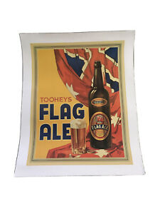 Extremely Rare Tooheys Flag Ale Colour Litigraph Poster